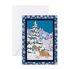 Winter Wonderland Corgi Greeting Card
