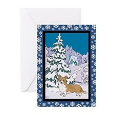 Winter Wonderland Corgi Greeting Cards (Pk of 10)