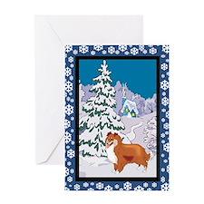 Winter Wonderland Sheltie Greeting Card