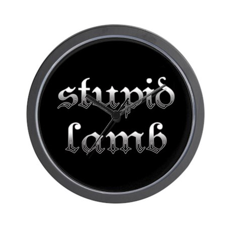 Stupid Lamb Twilight Wall Clock