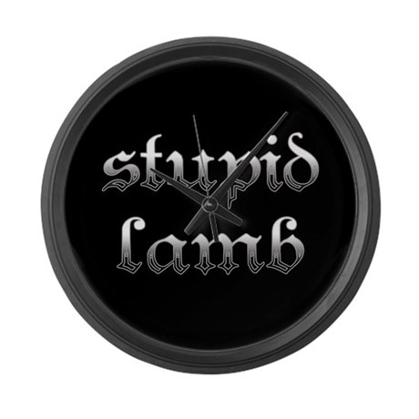 Stupid Lamb Twilight Large Wall Clock