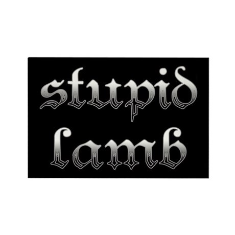 Stupid Lamb Twilight Rectangle Magnet (100 pack)