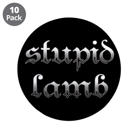 Stupid Lamb Twilight 3.5&quot; Button (10 pack)
