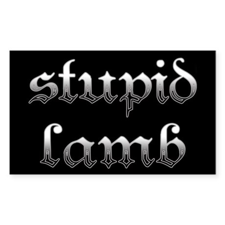 Stupid Lamb Twilight Rectangle Sticker 50 pk)