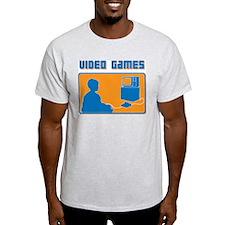 Retro Video Games Ash Grey T-Shirt