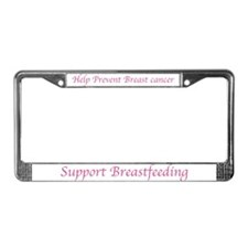 Unique Breast cancer prevention License Plate Frame