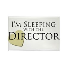 Sleeping With the Director Rectangle Magnet