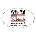 Proud American Oval Sticker (10 pk)