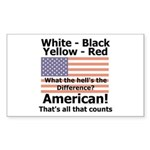 Proud American Rectangle Sticker 50 pk)