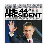 Obama: The 44th President Tile Coaster