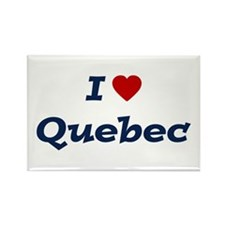I HEART QUEBEC Rectangle Magnet