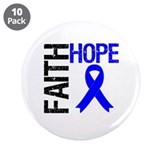 "Faith Hope Colon Cancer 3.5"" Button (10 pack)"