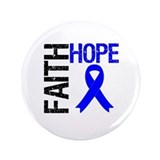 "Faith Hope Colon Cancer 3.5"" Button"