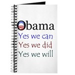 Obama: Yes we will Journal