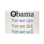 Obama: Yes we will Rectangle Magnet (100 pack)