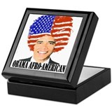 OBAMA AFRO-AMERICAN Keepsake Box