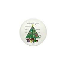 Dietitian Christmas Mini Button (100 pack)