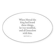 MATTHEW 2:3 Oval Decal