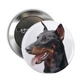 Doberman Pinscher Button