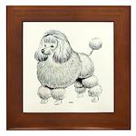Poodle Dog Framed Tile