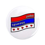 Janko Tipsarevic Serbian Hearts 3.5&quot; Button