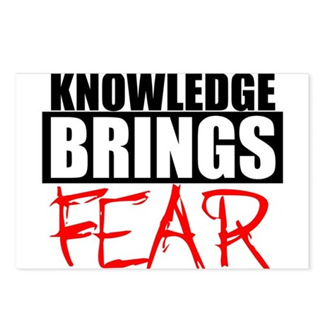 Knowledge Brings Fear Postcards (Package of 8)