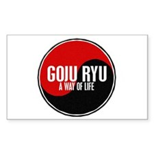 GOJU RYU A Way Of Life Yin Yang Decal