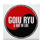 GOJU RYU A Way Of Life Yin Yang Tile Coaster