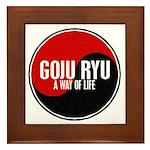 GOJU RYU A Way Of Life Yin Yang Framed Tile