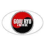 GOJU RYU A Way Of Life Yin Yang Sticker (Oval 10 p