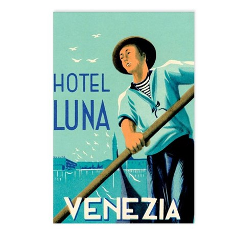 Hotel Luna Venice Italy Postcards (Package of 8)