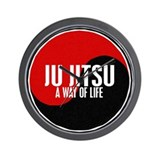 JU JITSU A Way Of Life Yin Yang Wall Clock