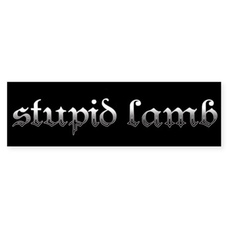 Stupid Lamb Twilight Bumper Sticker