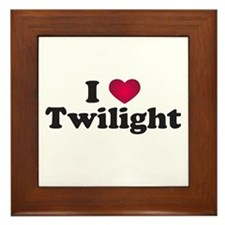 I Love Twilight Framed Tile
