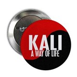 "KALI A Way Of Life Yin Yang 2.25"" Button"