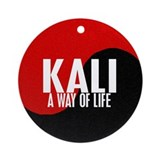 KALI A Way Of Life Yin Yang Ornament (Round)