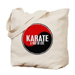 KARATE A Way Of Life Yin Yang Tote Bag