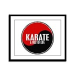 KARATE A Way Of Life Yin Yang Framed Panel Print