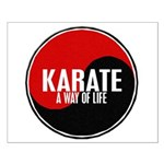 KARATE A Way Of Life Yin Yang Small Poster