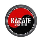 KARATE A Way Of Life Yin Yang Wall Clock
