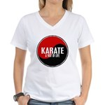 KARATE A Way Of Life Yin Yang Women's V-Neck T-Shi