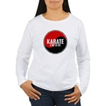 KARATE A Way Of Life Yin Yang Women's Long Sleeve 