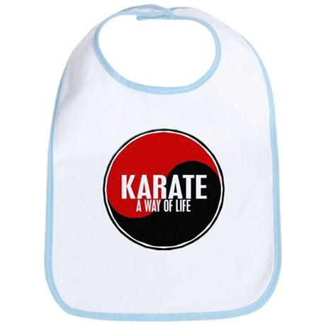 KARATE A Way Of Life Yin Yang Bib