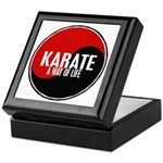 KARATE A Way Of Life Yin Yang Keepsake Box
