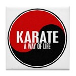 KARATE A Way Of Life Yin Yang Tile Coaster