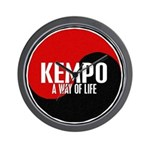 KEMPO A Way Of Life Yin Yang Wall Clock