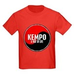 KEMPO A Way Of Life Yin Yang Kids Dark T-Shirt
