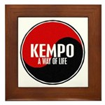 KEMPO A Way Of Life Yin Yang Framed Tile