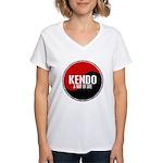 KENDO A Way Of Life Yin Yang Women's V-Neck T-Shir