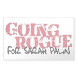 Going Rogue for Sarah Palin Rectangle Sticker 50